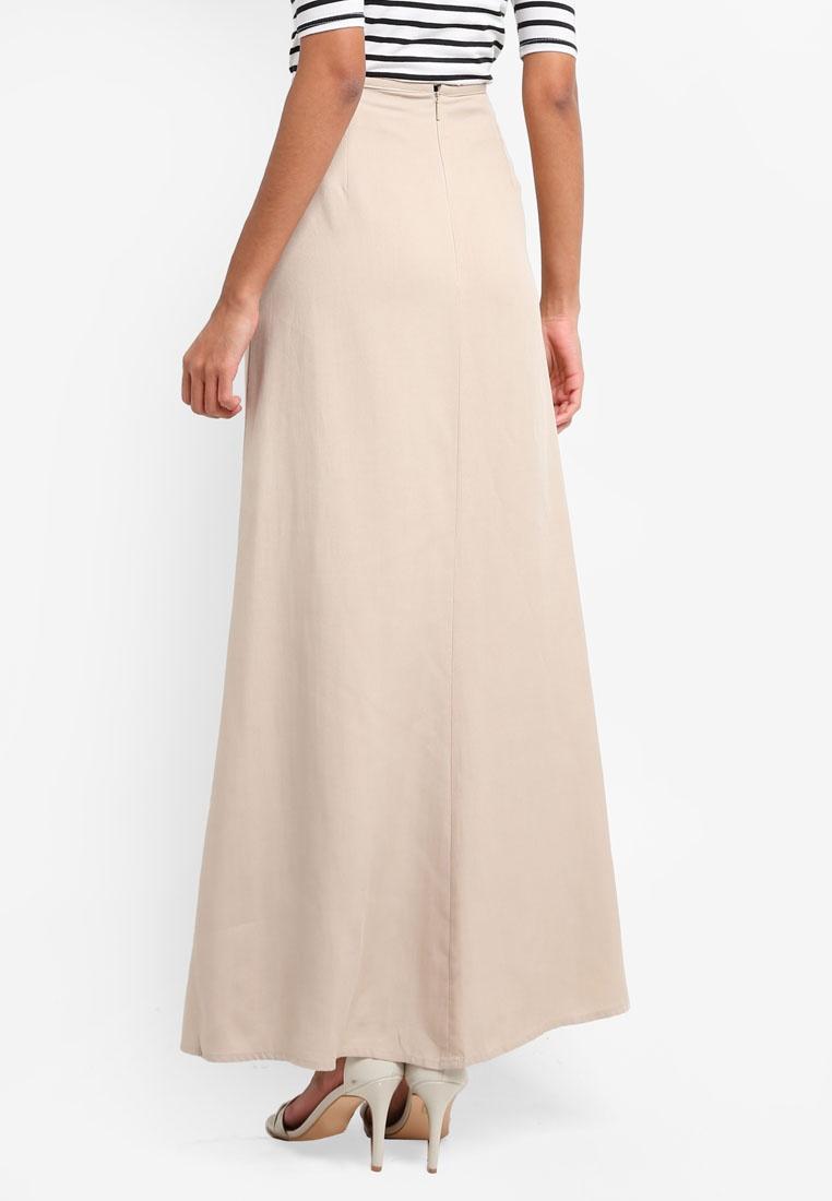 Soft Fabric Mango Light Skirt Long Beige d55rYq