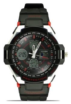Unisex Ana-Digi Athletic Sports Watch 3205ME
