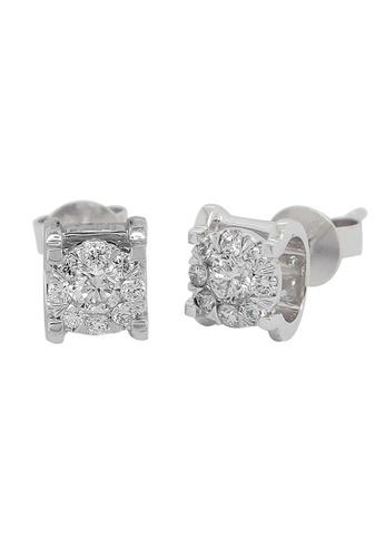 LITZ white LITZ 18K WHITE GOLD DIAMOND EARRINGS D897AAC108C229GS_1