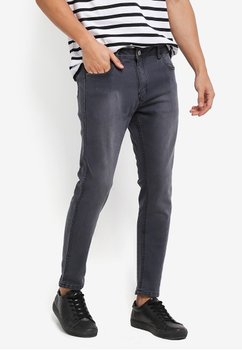 Penshoppe black Skinny Fit Reversible 5-Pocket Jeans 7D366AAD586112GS_1