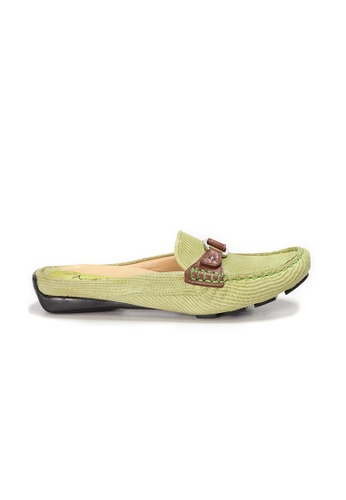Shu Talk 綠色 AMAZTEP 雙色真皮舒服樂福鞋 8CA4FSH379ABCFGS_1