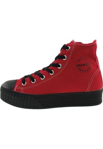 Maxstar 紅色 新款韩国鞋C30-7H-Solid時尚帆布布混合女紅色 US Women Size MA345SH88HFFTW_1
