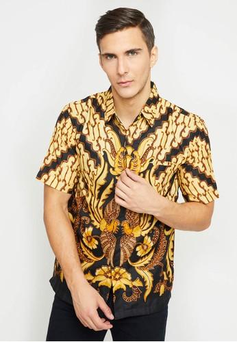 Batik Wibowo yellow Wamba Batik Shirt EE291AA5C00A91GS_1