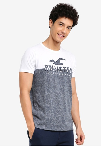 Hollister navy Iconic Tech Blocking T-Shirt 9B76FAA4310867GS_1