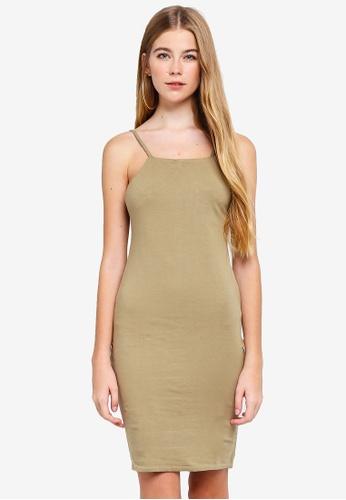Supre green High Neck Strappy Mini Dress 69F56AA9ABDA2AGS_1