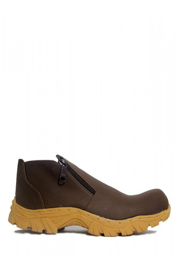 Cut Engineer brown Cut Engineer Safety Boots New Slip On Zipper Leather Dark Brown CU226SH52EYTID_1