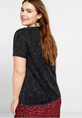 1b4c2038563 Shop Violeta by MANGO Plus Size Rock Printed T-Shirt Online on ...