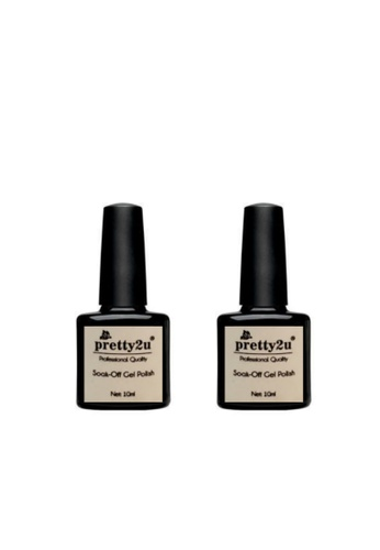 Pretty2u Soak Off Gel Polish Base & Top Coat Set EFCB3BEBD88BAAGS_1