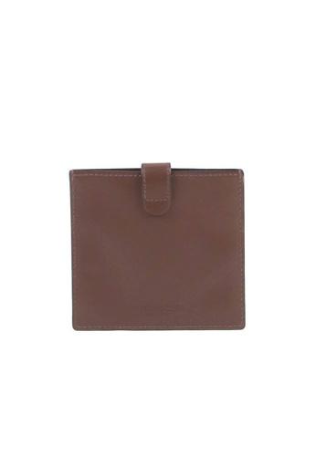 Coach brown Coach Heritage C3162 Card Case In Dark Teak 659ACAC054F290GS_1