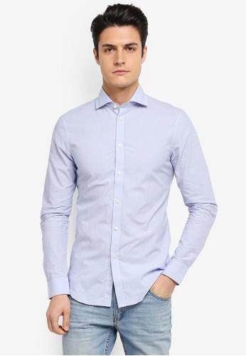ESPRIT blue Woven Long Sleeve Shirt ES374AA0T193MY_1