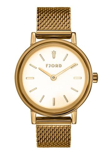 Fjord gold Fjord Women's Mesh Band Watch - FJ-6045-22 B6B95AC23D86EDGS_1