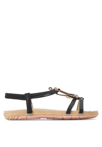 St3p black Casual Sandals ST395SH56KBRMY_1