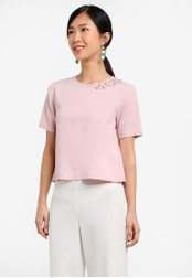 ZALORA pink Embellished Boxy Top 138E4ZZ51D59DEGS_1