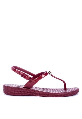 G&G red Thong Flat Sandals E7E0FSHABD5F4FGS_1