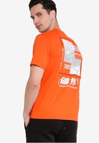 361° orange Basketball Series Short Sleeve T-shirt 63D3DAA24AE70DGS_1