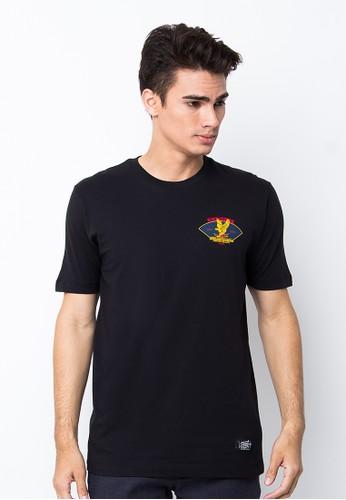 Endorse Tshirt Wl Bird Black END-PB025