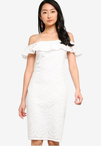 ZALORA BASICS white Cold Shoulder Dress 7154EAA28C6C75GS_1