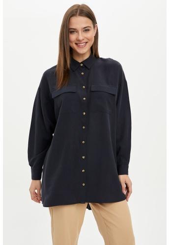 DeFacto navy Woman Long Sleeve Woven Tunic 93758AAABCF31BGS_1