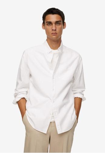 MANGO Man white Oxford Cotton Shirt D7910AA28118DAGS_1