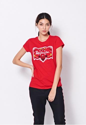 Sisley red Printed T-shirt 42E7DAA593DAFFGS_1
