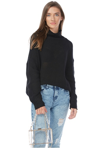 London Rag black Black Turtle Neck Knitted Pullover 91277AA6E7F59AGS_1