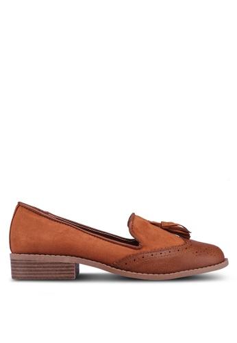 Dorothy Perkins brown Tan Pu Libra Loafers CC1BFSH80F877EGS_1