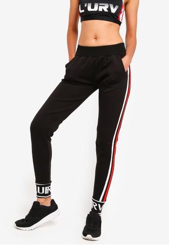 L'urv black Freestyle Logo Pants 2E597AAABF1D17GS_1