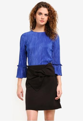 Dorothy Perkins blue Plisse Top DO816AA0RPH7MY_1