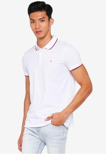 Penshoppe white Printed Polo Shirt A1680AA72CBB44GS_1