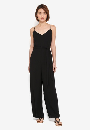 Dorothy Perkins 黑色 Strappy Jumpsuit 62FA0AA964E19CGS_1