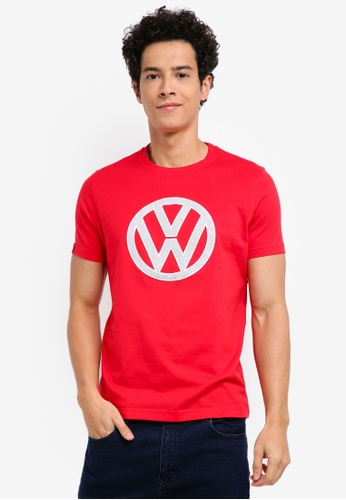 Volkswagen red Volkswagen Graphic Tee F4A01AA7A54E2BGS_1