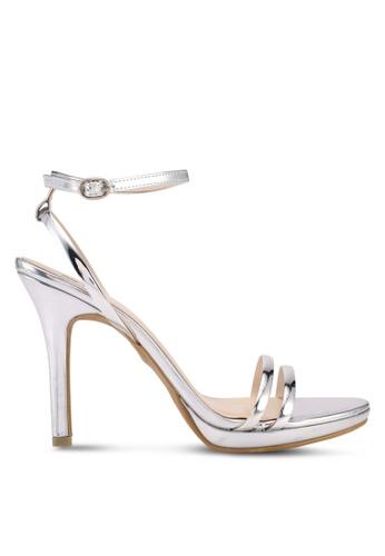 Bata 銀色 Bata Metallic Heels FD4F8SH6541655GS_1