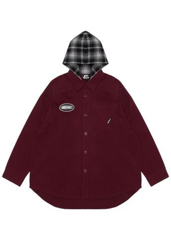 Mini cream red Plaid logo contrast shirt 5C25DAAE54F902GS_1