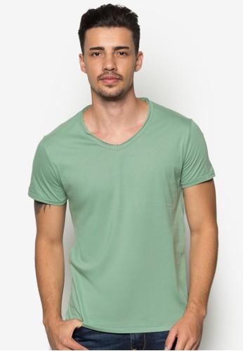 Jed 基本款V 領T 恤,esprit 台北 服飾, 素色T恤