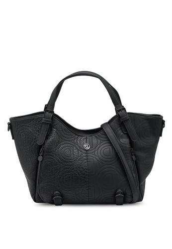 Desigual black Big Bag In Logomania Patch CDD42AC992158CGS_1