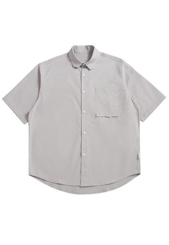 Twenty Eight Shoes Loose Cropped Pocket Short Shirt 2263S21 5FB7EAA2CE68D0GS_1
