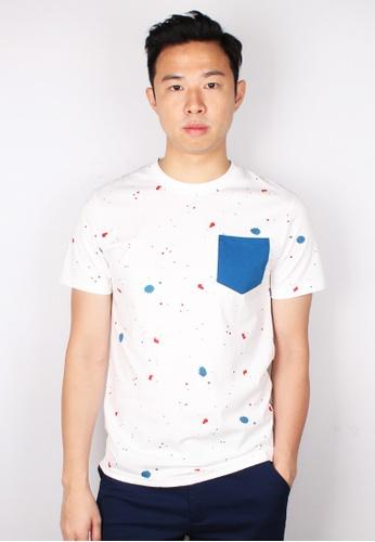 Moley white Paint Splatter T-Shirt 15C85AA09C4BCDGS_1