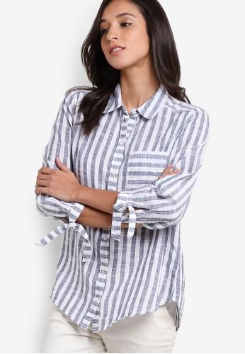 條esprit地址紋長袖襯衫, 服飾, 服飾