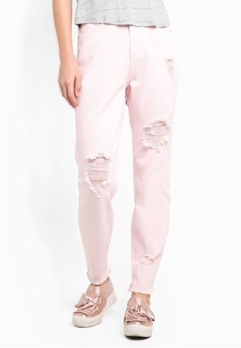 Cotton On pink High Rise Relaxed 90's Jeans CO372AA83CWUMY_1