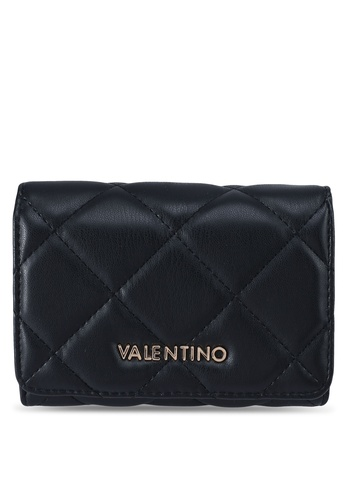 VALENTINO by Mario Valentino black Ocarina Tri-fold Wallet D6FF1AC8B5969BGS_1