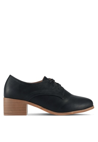 Something Borrowed black Lace up loafers 31F68SH809D571GS_1