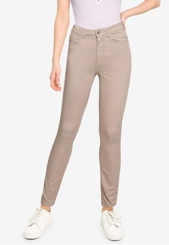 JACQUELINE DE YONG beige Lara Life High Skinny Pants 9854AAA911424DGS_1
