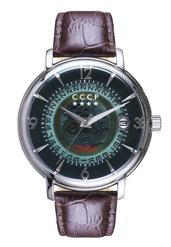 CCCP brown CCCP Men's Brown Genuine Leather Watch - CP-7036-04 1AA74ACE283CE8GS_1