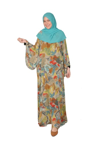Bait Al Hijaab multi ONE-OF-A-KIND PRINTED KAFTAN C50A2AA4B30535GS_1