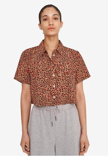 Noisy May brown Nika Short Sleeve Shirt FB12DAA0953546GS_1