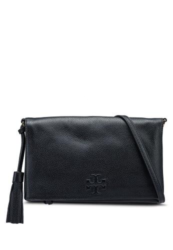 TORY BURCH black Thea Foldover Crossbody Bag (NT) 3390FACF8FA4CEGS_1