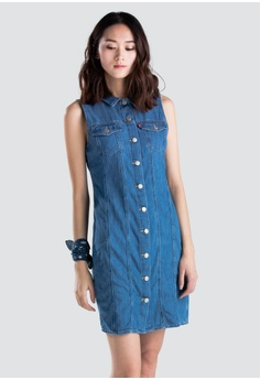 bd7130f8f3 Levi s blue Levi s Aubrey Dress 68986-0000 482DFAABF74A63GS 1