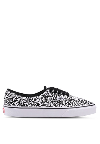 VANS black and white Authentic ATCQ Sneakers VA142SH0SWSWMY_1