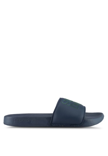 Superdry navy SUPERDRY LINEMAN POOL SLIDE C1FD2SH5376218GS_1