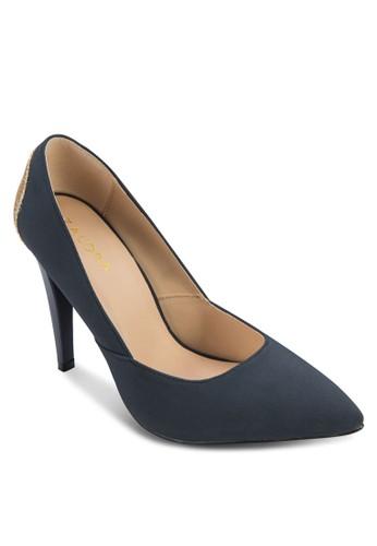 閃飾拼接尖頭高跟鞋, 女鞋, 厚底zalora時尚購物網評價高跟鞋